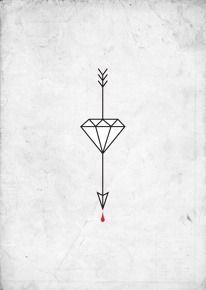 Saved by Jessie Jay Mademann on Designspiration. Discover more Arrow Properly Deceased Tattoo Diamond inspiration.