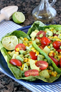 Edamame Corn Tomato Salad Recipe ~ hearty, satisfying and full of flavor!