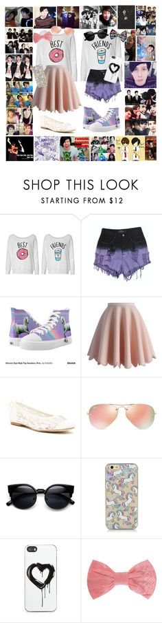 """BFFs"" by watermelonandmusyc ❤ liked on Polyvore featuring Evil Twin, Zipz, Chicwish, Soludos, Ray-Ban, Zero Gravity, Missoni and Disney"