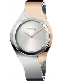 Calvin Klein Women's Swiss Senses Two-Tone Stainless Steel Bangle Bracelet Watch Stylish Watches, Luxury Watches, Cool Watches, Watches For Men, Rolex Watches, Bangle Bracelets, Bracelet Watch, Pearl Necklaces, Calvin Klein Watch