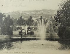French Vintage Postcard - Champ de Mars, Vienne, France by ChicEtChoc on Etsy
