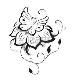 butterflies: Estratto silhouette inventato farfalla decorativa. È stato progettato per decorare. Forse per il tatuaggio