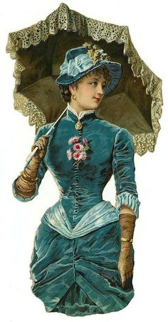 Victorian Scrap — Beautiful Lady with Umbrella Vintage Abbildungen, Images Vintage, Decoupage Vintage, Vintage Ephemera, Vintage Pictures, Vintage Postcards, Vintage Prints, Vintage Photographs, Victorian Women