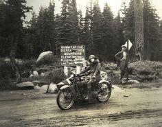 Vera Evangline War, from her motorcycle trip in California in 1922
