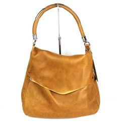 "Revel NY ""Saddle"" Brown Leather Amsterdam Flap Bag NEW #RevelNY #ShoulderBag"
