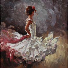 Mark Spain - White Silk Beauty III