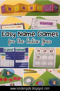 Name Games for Back to School Kindergarten Names, Preschool Names, Name Activities, Kindergarten First Day, Back To School Activities, Kindergarten Classroom, Classroom Activities, Dinosaur Classroom, Morning Activities