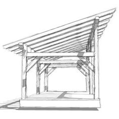 Shed Plans - DIY timber frame shed barn plan provides shelter for livestock or equipment. Enclosed, it can be used as a shed, workshop or small horse barn. - Now You Can Build ANY Shed In A Weekend Even If You've Zero Woodworking Experience! Small Horse Barns, Lean To Shed, Storage Shed Plans, Diy Shed Plans, Shed Plans 12x16, Wood Shed Plans, Diy Storage, Outdoor Storage, Shed Roof