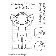 Pure Innocence FUN IN THE SUN Clear Stamps MFT PI251 Preview Image