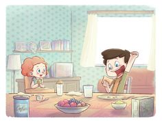 Toast is delicious! It's Eric's favourite breakfast. Delightful illustration from Eric Says Thanks by Dai Hankey, teaching kids to say thank you to God for the good things he's made.