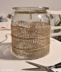 DIY Jute Jar Lanterns, jak samodzielnie zrobić lampion ze słoika