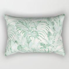 Tropical palms Rectangular Pillow by LedenDesign, $27.00
