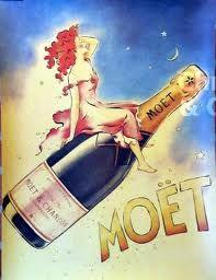 Vintage Wine vintage Moet champagne poster hangs in my front room-- JC Vintage Champagne, Champagne Cocktail, Vintage Wine, Vintage Ads, Vintage Posters, Champagne Images, Champagne Quotes, Rose Champagne, Vintage Trends