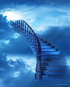 Azure Blue - stairway to heaven Stairway To Heaven, Angels Among Us, Love Blue, Color Blue, Stairways, Belle Photo, My Favorite Color, Shades Of Blue, Paths