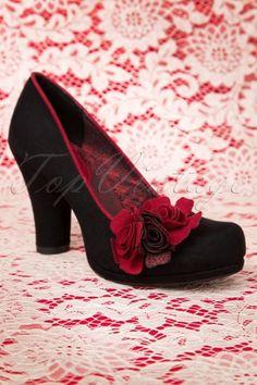 Ruby Shoo Eva Shoes in Black Red 400 10 12897 20140726 0006W 50s Shoes e47e64c0102b