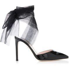 Moda Operandi (727,765 KRW) ❤ liked on Polyvore featuring shoes, embellished shoes, polish shoes, decorating shoes, embellished pumps and shiny shoes