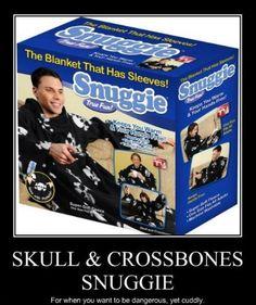Skull and Crossbones snuggie