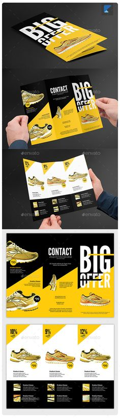 Product TriFold Brochure V37 — Photoshop PSD #simple #swiss • Available here → https://graphicriver.net/item/product-trifold-brochure-v37/11653981?ref=pxcr