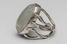 Silver jewellery - Pawel Giedymin Puzio design. Silver Jewellery, Jewelery, Silver Rings, Gemstone Rings, Gemstones, Floral, Handmade, Design, Jewlery