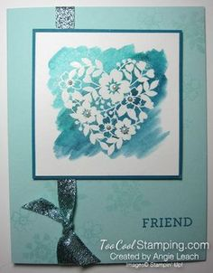 5 Days 'Til Sale-a-Bration!  Bloomin' Love Wink of Stella Resist Cards