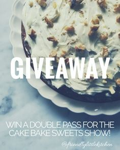 Giveaway Win a double pass to the @cakebakesweets show in Melbourne where I'll be baking up some delicious treats!  . All you have to do is... 1. Repost one of your favorite @friendlylittlekitchen baked good photos and 2. Hashtag #FLKgiveaway and @friendlylittlekitchen . Winner will be announced and emailed 2 single day pass tickets on Thursday 20th October at 6pm. The tickets may be used any day of the show 21st-23rd Oct