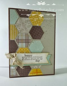 Put all your hexagon shapes together in a honeycomb pattern for a masculine and unique Father's day card.