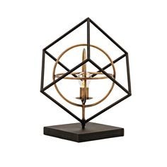 The Imax Glenby Small LED Sculpture is part table lamp and part modern work of art. This incredible sculpture features a geometric openwork design made. Cage, Unique Table Lamps, Contemporary Sculpture, Led, Mid Century Style, At Home Store, Glass Table, Decorative Accessories, Bulb
