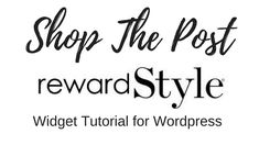 RewardStyle Widget Tutorial - How to add a Shop the Look widget to your Wordpress website.     In this #tutorial #video, I show you how to add the Shop the Post widget to a blogpost and to the sidebar widget.   #RewardStyle #Widget #WordPress Tutorial | #ShopThepost |  Fiona McGuire  #shopthelook #shopmyinstagram Wordpress Shop, Channel, Ads, Website, Youtube, Blog, Blogging, Youtube Movies