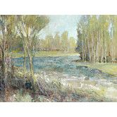 """Found it at Wayfair - """"Gentle Banks"""" Painting Print on Wrapped Canvas"""