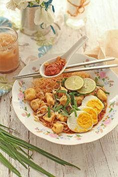 Singapore rice vermicelli dish, Mee Siam