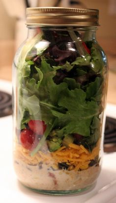 Southwest Salad in a jar.. YUM!