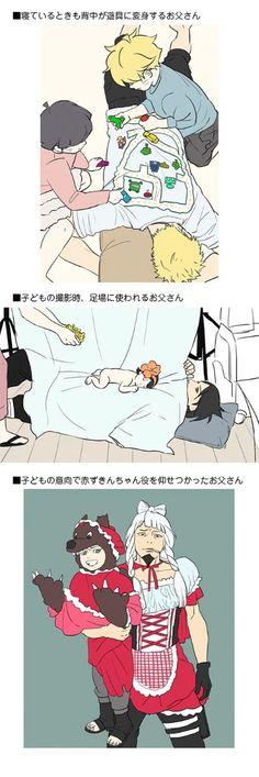 and now naruto, sasuke and shikamaru as fathers ^^