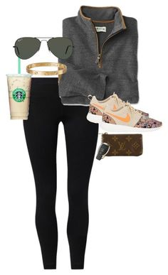 """shoutout to the 34 followers I got …. random…?"" by juliaparmartin ❤ liked on Polyvore featuring NIKE, Cartier, Ray-Ban and Louis Vuitton"