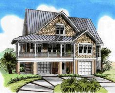 Three Level Beach House Plan - 15026NC   1st Floor Master Suite, Beach, CAD Available, Country, Drive Under Garage, Elevator, Jack & Jill Bath, Low Country, Narrow Lot, PDF, Southern, Vacation   Architectural Designs