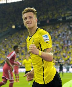 Marco Reus celebrating his goal against Bayern in the Supercup (2013/14)