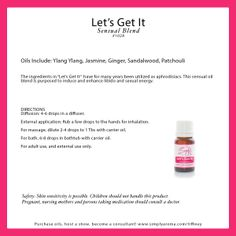 let's get it essential oil blend for romance http://www.simplyaroma.com/danette simply aroma essential oils