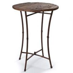 Superb This Unique Bar Table Features Iron Legs In A Natural Finish With A Round  And Natural Wooden Top. This Handmade Bar Table Is A Unique Piece Of World  Art To ...