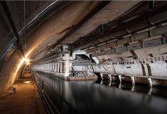 Russian Underground Base   ABANDONED RUSSIAN SUBMARINE BASE - COOL TOUR - Underground Dock