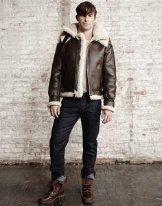 Cockpit USA's B-3 Hooded Sheepskin Bomber Jacket | Style # Z203615 | Proudly made in the USA