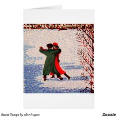 'Snow Tango' - Two Greeting Cards Sold on the Zazzle online store. Thank you to the buyer in London, United Kingdom! Seasonal Image, Xmas Greetings, Watercolor Christmas Cards, Watercolor Techniques, Tango, Paper Texture, Holiday Cards, Greeting Cards, London United