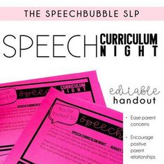 Don't miss out on back to school night with this curriculum handout!  This editable resource helps ease parent concerns and encourages a positive relationship with teacher, student and parent right at the start!  No prep! #SLP #SPED #editable #printable