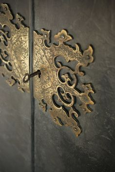 Chinoiserie / Oriental brass door / cabinet hardware