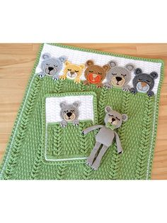 Sleep Tight Crochet Teddy Bear Blanket Pattern