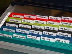 Make memory boxes for each kid. | 52 Meticulous Organizing Tips For The OCD Person In You