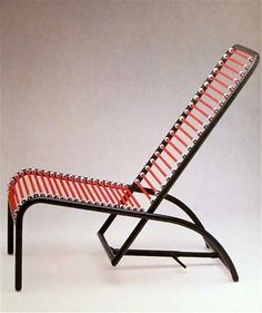 bungee cord chairs + furniture (rene herbst) Improvised Life is part of Furniture chair In the 1930 Rene Herbst pioneered the use of bungee cords in fabulously designed furniture They are an templ - Folding Furniture, Metal Furniture, Garden Furniture, Vintage Furniture, Modern Furniture, Furniture Design, Outdoor Furniture, Backyard Chairs, Outdoor Chairs