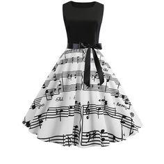Womens Hepburn Style Skater Vintage Rockabilly Party Prom Swing Dress - Swing Dresses - Ideas of Swing Dresses Vintage Summer Dresses, Cute Prom Dresses, Summer Dresses For Women, Pretty Dresses, Beautiful Dresses, Vintage Outfits, Short Dresses, Dress Vintage, Vintage Clothing