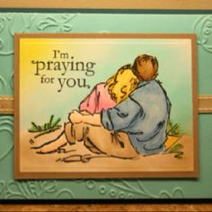 """Praying for you card. Used stamp set """"Summer by the sea"""" by Stampin' Up."""