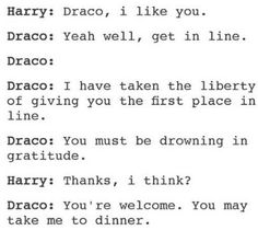 Ah, white male privilege, represented best by Draco