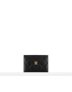 chanel card holder // grained calfskin & gold metal-black & burgundy