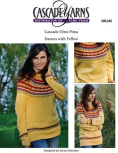 Dances with Yellow in Cascade Ultra Pima - DK145